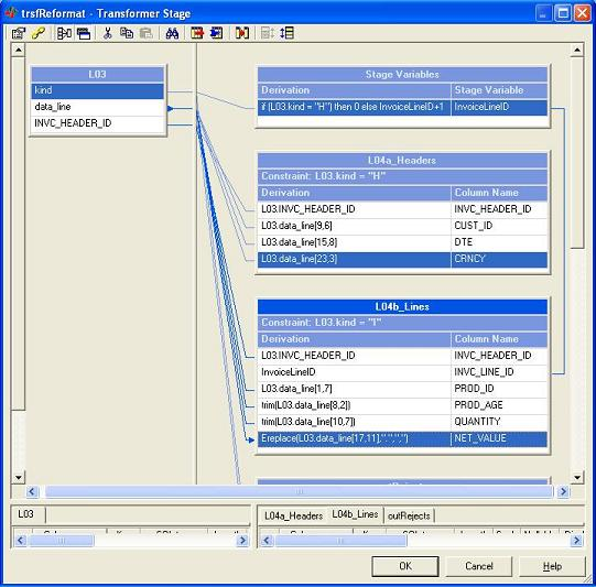 The following transformer splits the flow into headers and items and reformats records into a corresponding structure