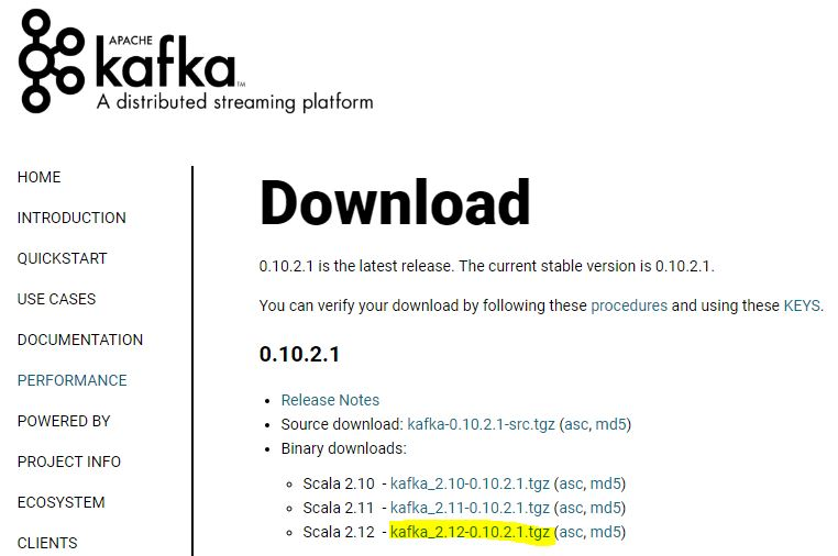 Kafka binary download